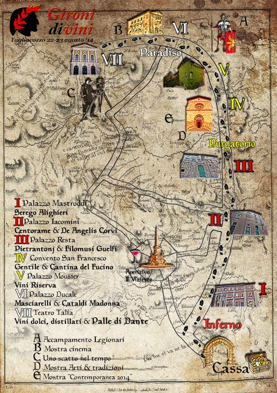 Mappa Gironi Divini