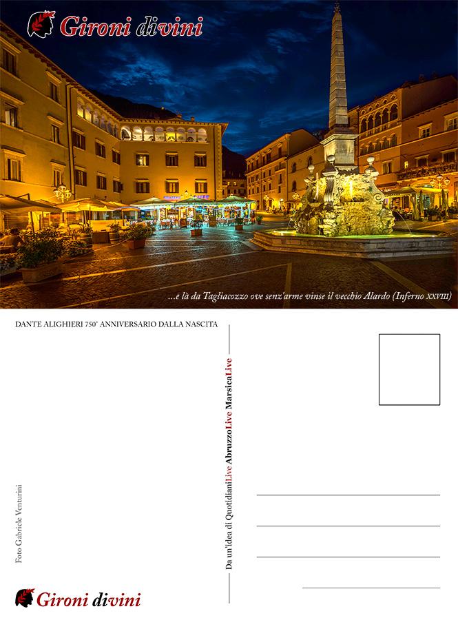 Cartolina Gironi Divini 2015 annullo filatelico